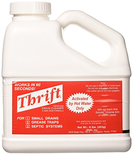 THRIFT FBA_T-600 T-600 Alkaline Based 6 lb. Granular Drain Cleaner, -