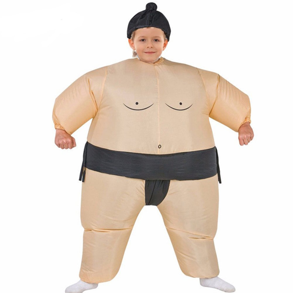 AOGU Inflatable Sumo Wrestler Wrestling Costume Halloween Costume for Child Inflatable Costumes Cosplay by AOGU