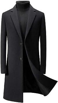 冬の高級ビジネス紳士オーバーコートカジュアルスリムロングウールコートメンズウールウールブレンドジャケット