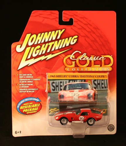 1965 SHELBY COBRA 'DAYTONA' COUPE * RED * Johnny Lightning 2004 CLASSIC GOLD COLLECTION 1:64 Scale Die-Cast Vehicle