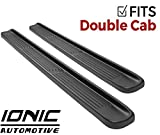 Ionic Factory Style (fits) 2014-2018 Chevy Silverado GMC Sierra & 2015-2018 2500 3500 Gas Double Cab No Mud Flaps Only Running Boards Side Steps (3800791078)