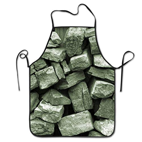 ZYGCMYX Arkansas Rock Wall Stone Pattern Women/Men Kitchen Aprons Bib Save-All Barbecue Cooking Cloth Chef