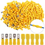 Hilitchi 100pcs 12-10 Gauge Fully Insulated Male Female Spade Quick Splice Wire Terminals Wire Crimp Connectors Set