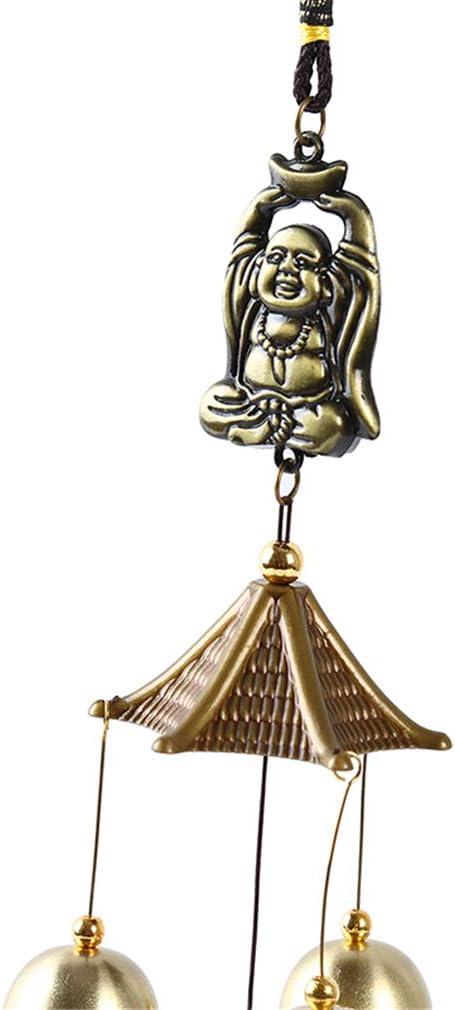 LIXIAQ1 R/étro Cloches Vent carillons Dragon Statue de Bouddha Suspendu Ornement Porte Jardin /à lext/érieur Home Decor Cadeau Bouddha