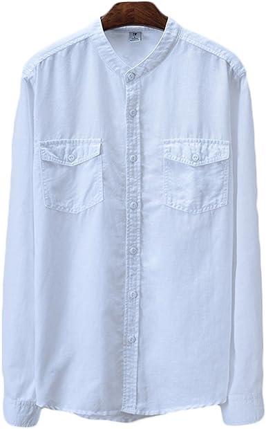 Icegrey - Camiseta de Tirantes - Cuello Mao - Manga Larga - para Hombre: Amazon.es: Ropa y accesorios
