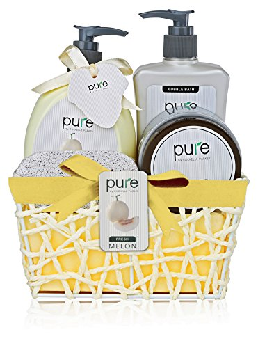 Pure! Rachelle Parker Luxury Spa Set- Lush Bath Gift Basket- all Natural!