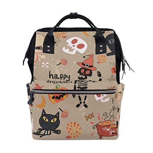 Russe Casual backpack Happy Halloween Clip Art Cartoon Set Vector Image -