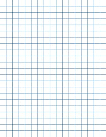 School Smart Chipboard Backed Graph Paper Pads with 1/4 in Rule - 8 1/2 x 11 inches - Dozen - White - Graph Pad