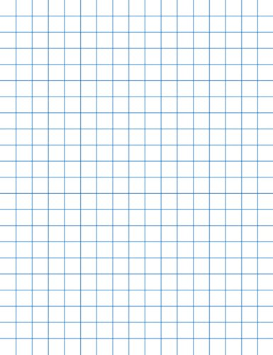 School Smart 85279 Double Sided Graph Paper with 1/2 in Rule - 8 1/2 x 11 inches - Ream of 500 - White by School Smart