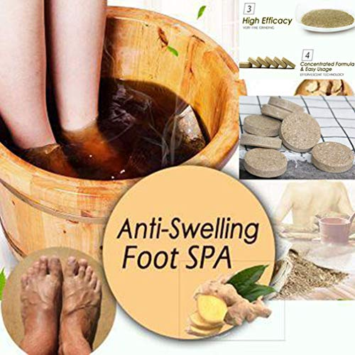 10Pcs Ginger Foot & Hand Salts & Soaks Foot Care,Eliminate Fatigue Improve Sleeping Foot Pain Foot Care Treatment