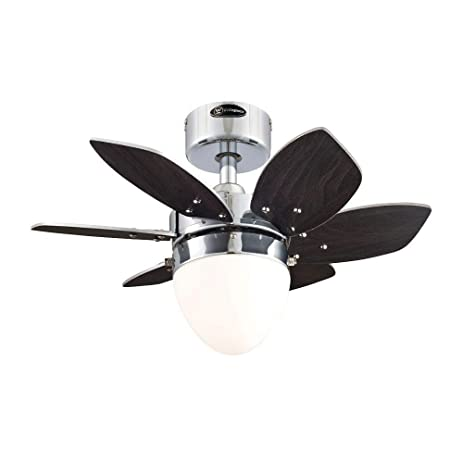 Westinghouse 7864400 24 chrome 6 blade reversible ceiling fan with westinghouse 7864400 24quot chrome 6 blade reversible ceiling fan with light aloadofball Choice Image