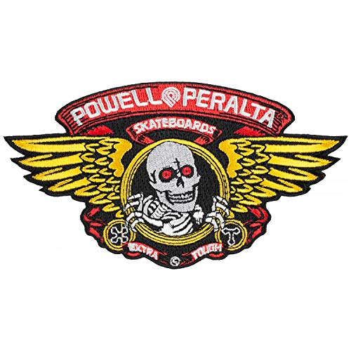 Powell Peralta Skateboard Patch Winged Ripper Embroidered Iron/Sew On