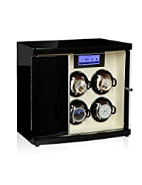 Modalo - Luxurious Watch Winder - LCD Touch Screen - Winds up to 4 Watches + Stores 2 Extra