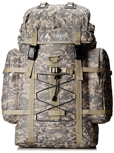 Everest Digital Camo Hiking Backpack, Digital Camouflage, One Size