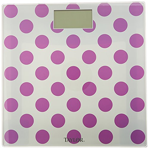 Taylor Precision Products Glass Digital Bath Scale (Polka Dots)