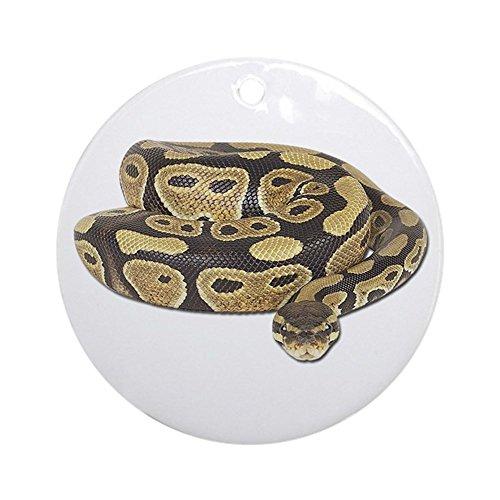 CafePress Ball Python Photo Ornament (Round) Round Holiday Christmas Ornament (Python Christmas Monty Ornament)