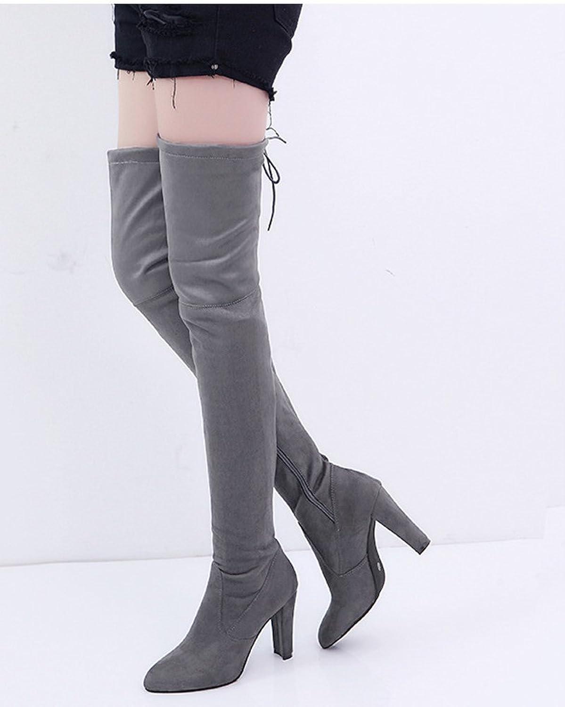 Damen Elegante Mode Winterschuhe High Heels mit Warm Gefüttert Plüsch Anti  Rutsch Sohle Hohe Stiefel Boots Schnürschuhe: Amazon.de: Schuhe &  Handtaschen