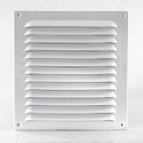 Klimapartner WGQW 300 mm Grille D/'a/ération Blanc Laqu/é Avec Moustiquaire