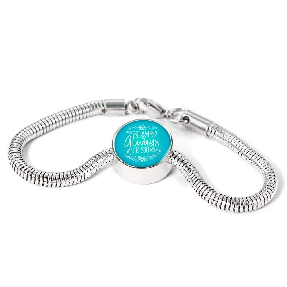 Express Your Love Gifts I Am Always with You Circular Charm Bracelet