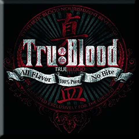 True Blood All Flavour/No Bite new Official 76mm x 76mm Fridge Magnet (True Blood Gifts)