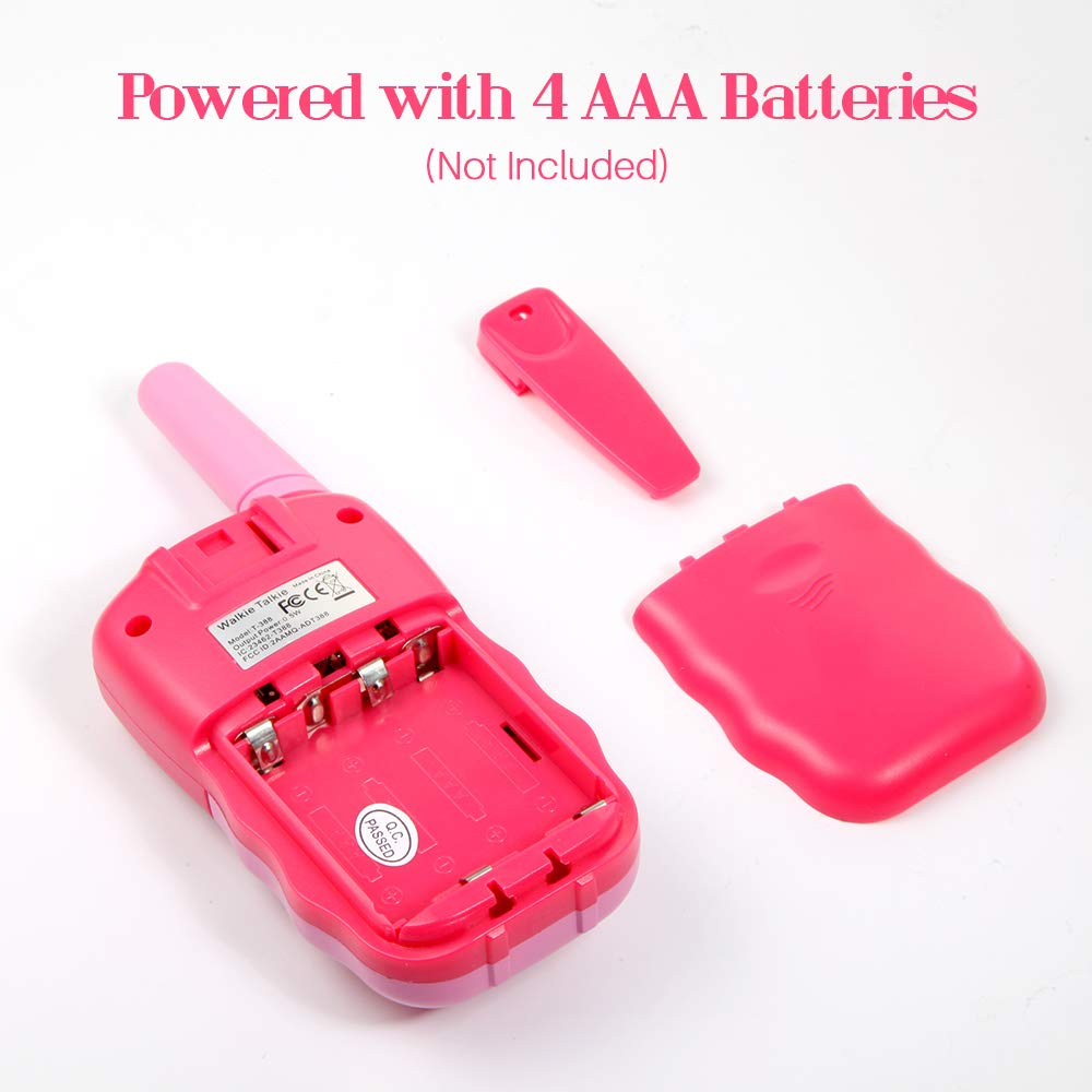 OMWay 3 Pack Kids Walkie Talkies, Toys for Girls 3-12 Year Old,Best Birthday Gifts for Kids. by OMWay (Image #7)