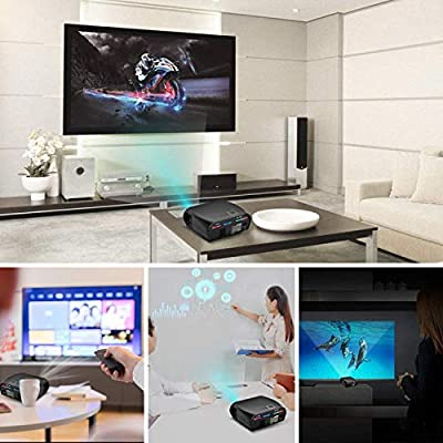 Proyector de vídeo GP100,3500 lúmenes LCD 1080P Full-HD LED ...