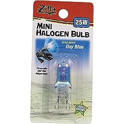 Zilla Reptile Terrarium Heat Lamps Mini Halogen Bulb, Day Blue, 25W