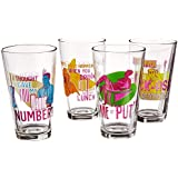 ICUP Archer Statements Pint Glass (4 Pack), Clear