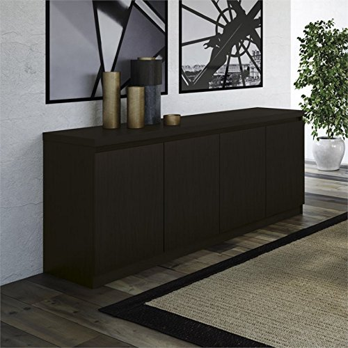 Manhattan Comfort 100653 Viennese 62.99 in.6-Shelf Buffet Cabinet in Black