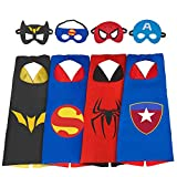 Easony Outdoor Toys 3-10 Year Old Boys, Fun Cool Super Hero Capes Costumes Kids Birthday Presents Gifts 3-10 Year Old Boys Stocking Stuffer ESUSXCP04
