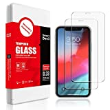 SmartDevil (2 Pack) Screen Protector for iPhone XR 6.1-Inch, [Anti-Fingerprint] [Bubble Free] [Case Friendly] HD Tempered Glass Film with Easy Installation Kit Compatible with Apple iPhone XR