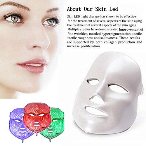 Face Light Mask Carer 3 Color Red Light Mask Facial Skin Rej