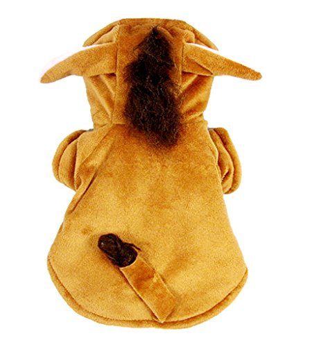Woo Woo Pets Cute Simulation Mane of Horse Winter Pet Costume Brown XL