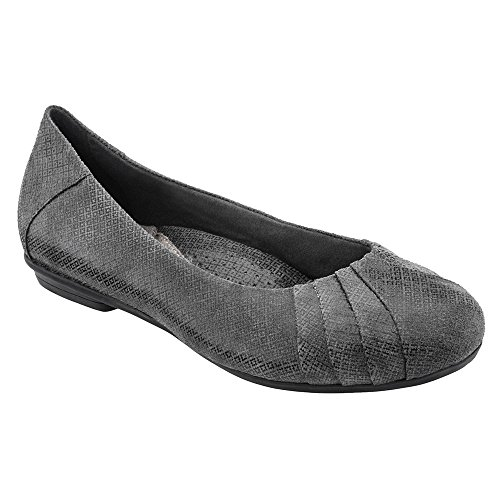 Earth Women's Dark Grey Print Suede Bellwether 11 Medium US - Grey Suede Print