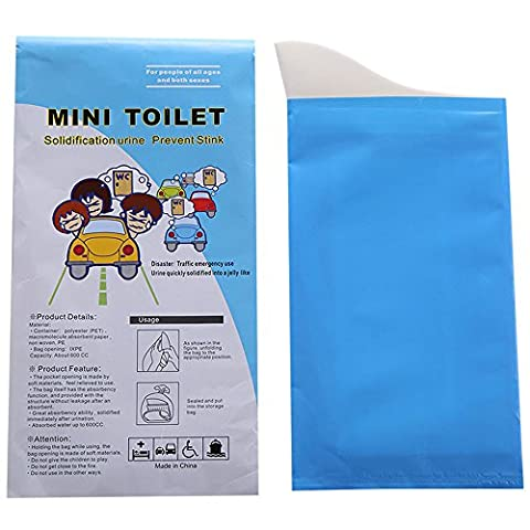 Travel Disposable Urinal for Men,women& Children, traffic jam tiny mobile toilet sick bag (12 pack)