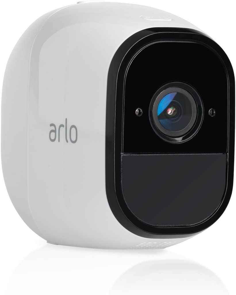 Arlo Pro 2 VMC4030P-100NAR Wireless Home Security Camera, Rechargeable, Night Vision, Indoor/Outdoor, 1080p, 2-Way Audio, Wall Mount, Add-On Camera, White (Renewed)