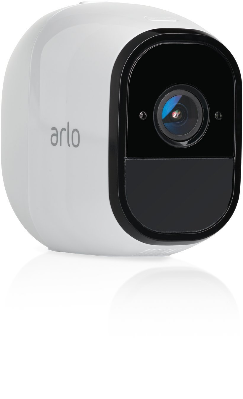 Arlo Pro 2 VMC4030P-100NAR Wireless Home Security Camera, Rechargeable, Night Vision, Indoor/Outdoor, 1080p, 2-Way Audio, Wall Mount, Add-On Camera, White (Renewed) by Arlo