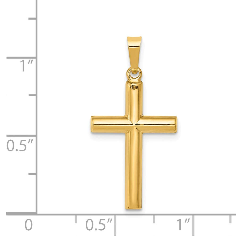 Mia Diamonds 14k Yellow Gold Hollow Cross Pendant