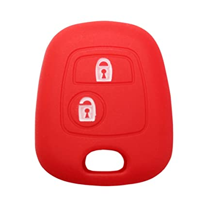Red YLC Silicone Car Key Protection Case//Car Key Cover//Fob Holder//Cover Skin Jacket for Peugeot /& Citroen 2 Buttons Remote Car Key
