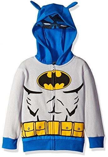 Warner Brothers Little Boys' Toddler' Batman Costume Hoodie, Grey, -