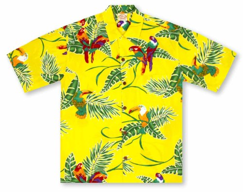 Shirt Hawaiian Go Barefoot (Go Barefoot Tropical Birds Hawaiian Shirt)