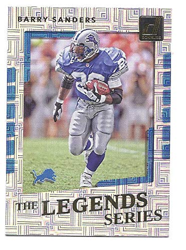 2017 Donruss Sports Legends - BARRY SANDERS 2017 Donruss The Legends Series #4 Card Detroit Lions Football