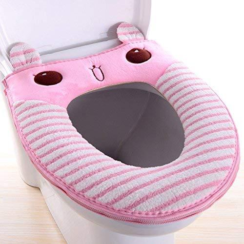 Toilet Cushion Toilet Cushion The Scenery of Bathmats Toilet Mats Three Piece Bathroom Mat,J