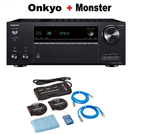 (Onkyo TX-NR787 9.2 Channel Network A/V Receiver Black + Monster Home Theater Accessory Bundle)