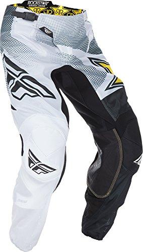 Fly Racing Unisex-Adult Kinetic Mesh Pants Rockstar (White/Black, Size 32)