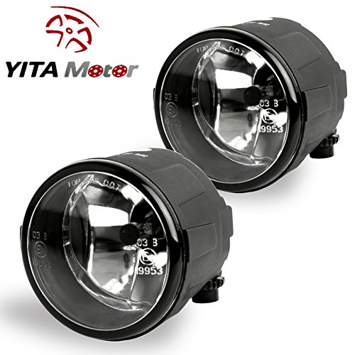 YITAMOTOR Fog Lights Clear Lens Driving Lamps Assembly H11 55W Bulb For Nissan Cube Juke Murano Rogue(One Pair) (Lens 55w Clear)