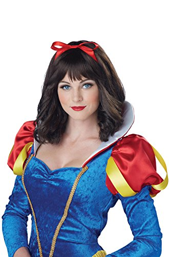 California Costumes Women's Snow White Wig, Dark Brown, One Size (Snow White Halloween Costume Adults)