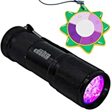 HQRP Professional 365 nM 9 UV LED Ultraviolet for Genuine Works of Art Inspection / Painting / Rug / China / Pottery / Art forgery / Repair Detection Flashlight / Blacklight + HQRP UV Meter