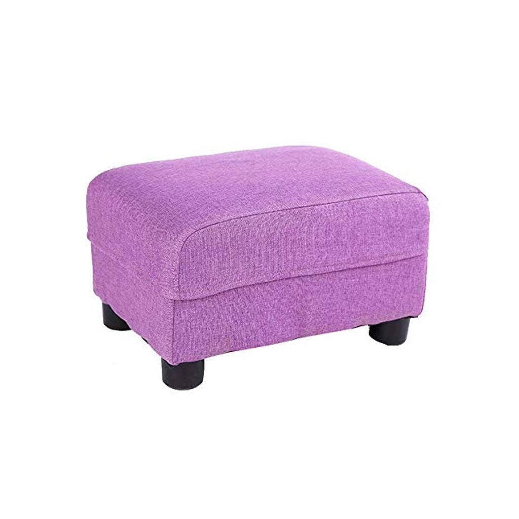 B GJD Solid Wood Footstool, Living Room Home Small Bench Fabric Sofa Stool, Multi-color Selection (color   A)
