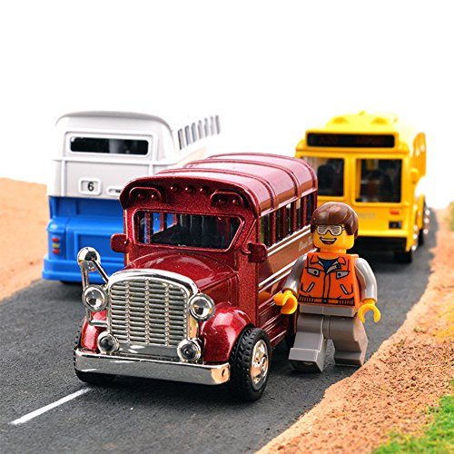 Amazon.com: Qiyun Toy Cars Children Alloy Pull Back Vehicles with Lights Sounds Mini Car Model Toys Xmas Gifts for Kidscolour:Single-deck bus (color ...